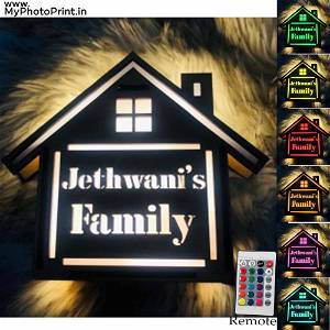 Customized Home Surname Led Board Multicolor Led and Remote #997
