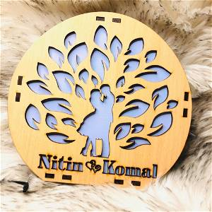 Customized Wooden Couple Tree With Your Name #1005