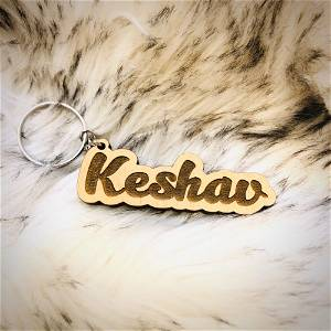 Customized Wooden Name Keychain 2