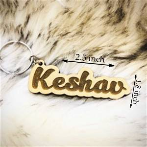 Customized Wooden Name Keychain