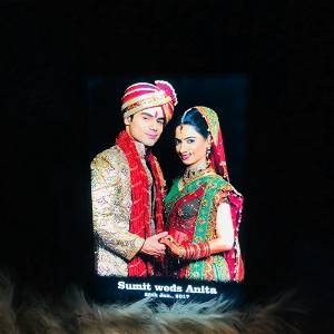 Customized Led Table Top With Your Name & Photo