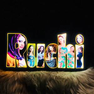 Customized Led Name board with your photo