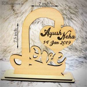 CUSTOMIZED Loving Table Top WITH NAME