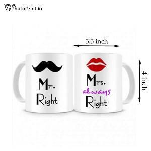 Mr And Mrs Right Mug