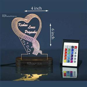 Acrylic 3D illusion LED Lamp with Color Changing Led and Remote #2401