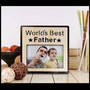 Personalized Wooden frame best Father