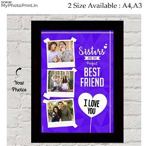 Personalized Wooden frame best Sister