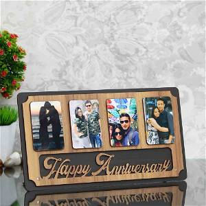 Personalized Wooden Happy Anniversary Frame