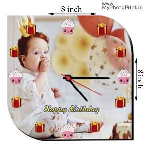 MyPhotoPrint Photo Wall Clock | Happy Birthday