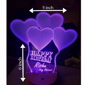 Acrylic 3D illusion LED Lamp with Color Changing Led and Remote #2406