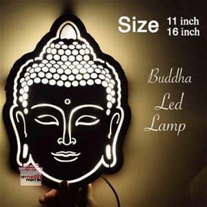 BUDDHA Religious Led Night Lamp Name Board Multicolor Led and Remote #1052