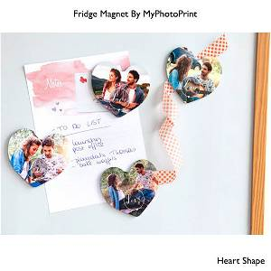 Heart Shape Photo Fridge Magnets | Get Customized & Personalized Photo Pairs of two/four