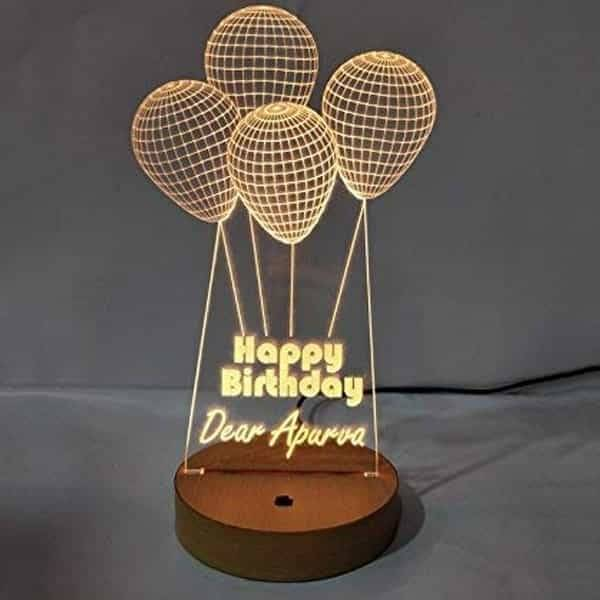 Acrylic 3D LED Remote Lamp | Birthday Gifts Ideas for Him, His, Her