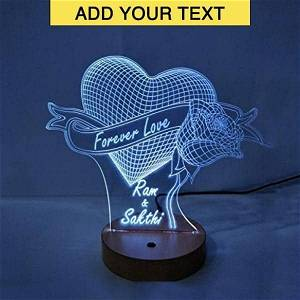 Heart Rose Acrylic 3D illusion LED Lamp with Color Changing Led and Remote #2390