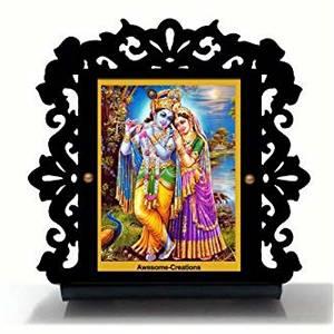 Radha Krishna Ji Car Dashboard
