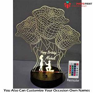 Acrylic 3D illusion LED Lamp with Color Changing Led and Remote #2527