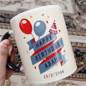 Happy Birthday Mug With Name And Date