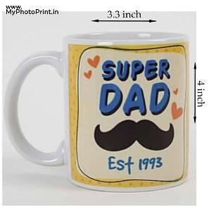 Super Dad Mug With Date