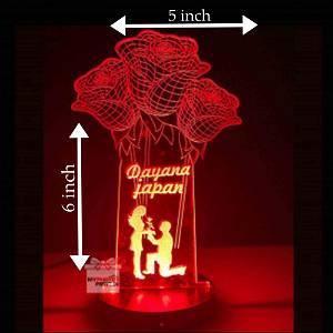 Acrylic 3D illusion LED Lamp with Color Changing Led and Remote #2535