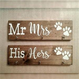 Mr Mrs & His Hers Key Holder