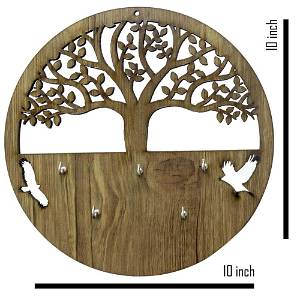 Wooden Tree Key Holder