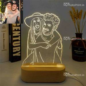 Acrylic 3D illusion LED Lamp with Color Changing Led and Remote #2536 . 2