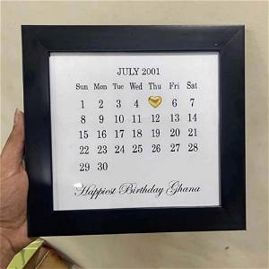 Love Frame With Your Message and Dates