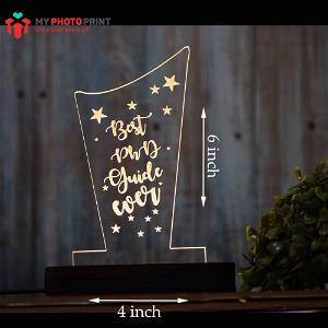 Personalized Best Relationship Trophy Acrylic 3D illusion LED Lamp with Color Changing Led and Remote #1134