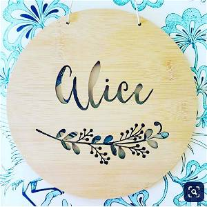 Wooden Engrave Wall Hanging