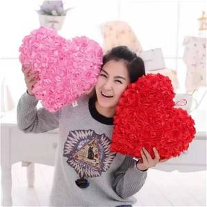 Rose Heart Cushion