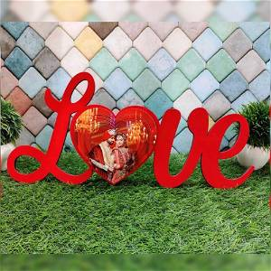 LOVE 3D HEART WITH PHOTO