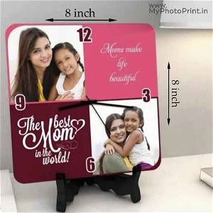 Best Mother With 2 Photo Clock