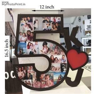 Date Multi Photo Frame Collage 15 Photo