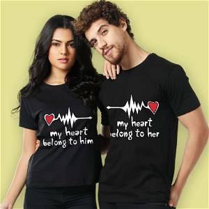 My Heart Belong To Him & My Heart Belong To Her T-Shirt