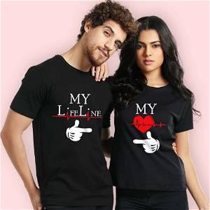 Life Line Couple T- Shirt