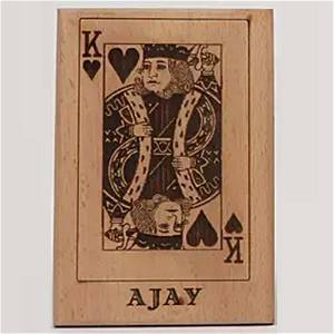 Wooden King Playing Card