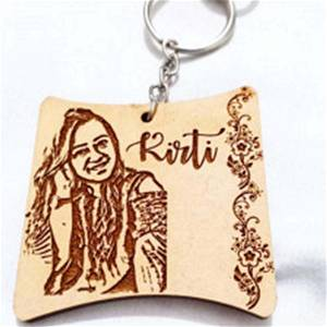 Engraved Curved Keychain