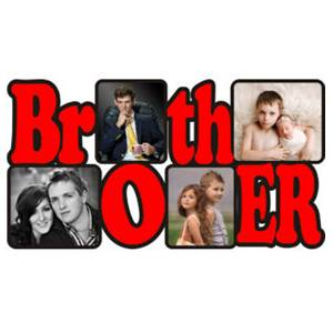 Personalized Brother Wooden Photo Frame/Collage 4 Photos
