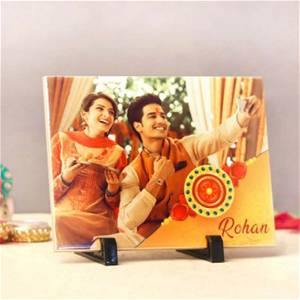 Customized Sister And Brother Table Top with photo