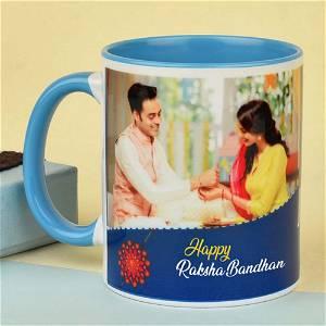 Personalized Happy Raksha Bandhan Rakhi Photo Mug