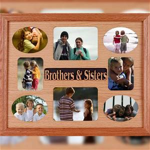 Personalized Brothers & Sisters Wooden Photo Frame 8 Photo