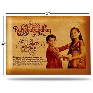 Personalized Raksha Bandhan Rakhi Wooden Photo Frame