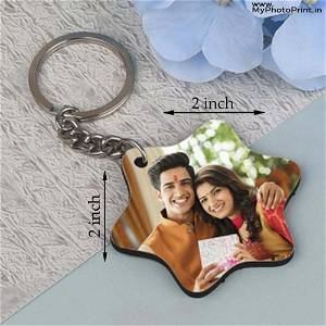 Personalized Brother with Sister Photo Keychain