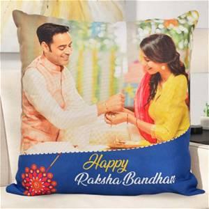 Personalized Raksha Bandhan Rakhi Photo Cushion
