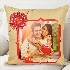 Personalized Brother & Sister Photo Cushion
