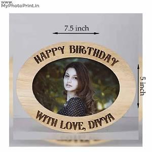 Happy Birthday Wooden Photo Frame