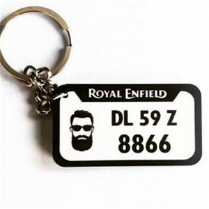 Customized Your Vehicle Number Plate Keychain #123