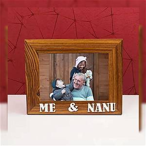 Personalized Wooden Me & Nanu Photo frame
