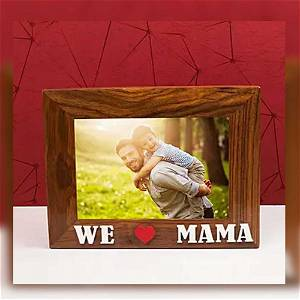 Personalized Wooden We & Mama Photo Frame