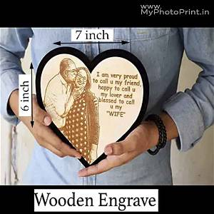 Wooden Engrave With Couple Photo #124